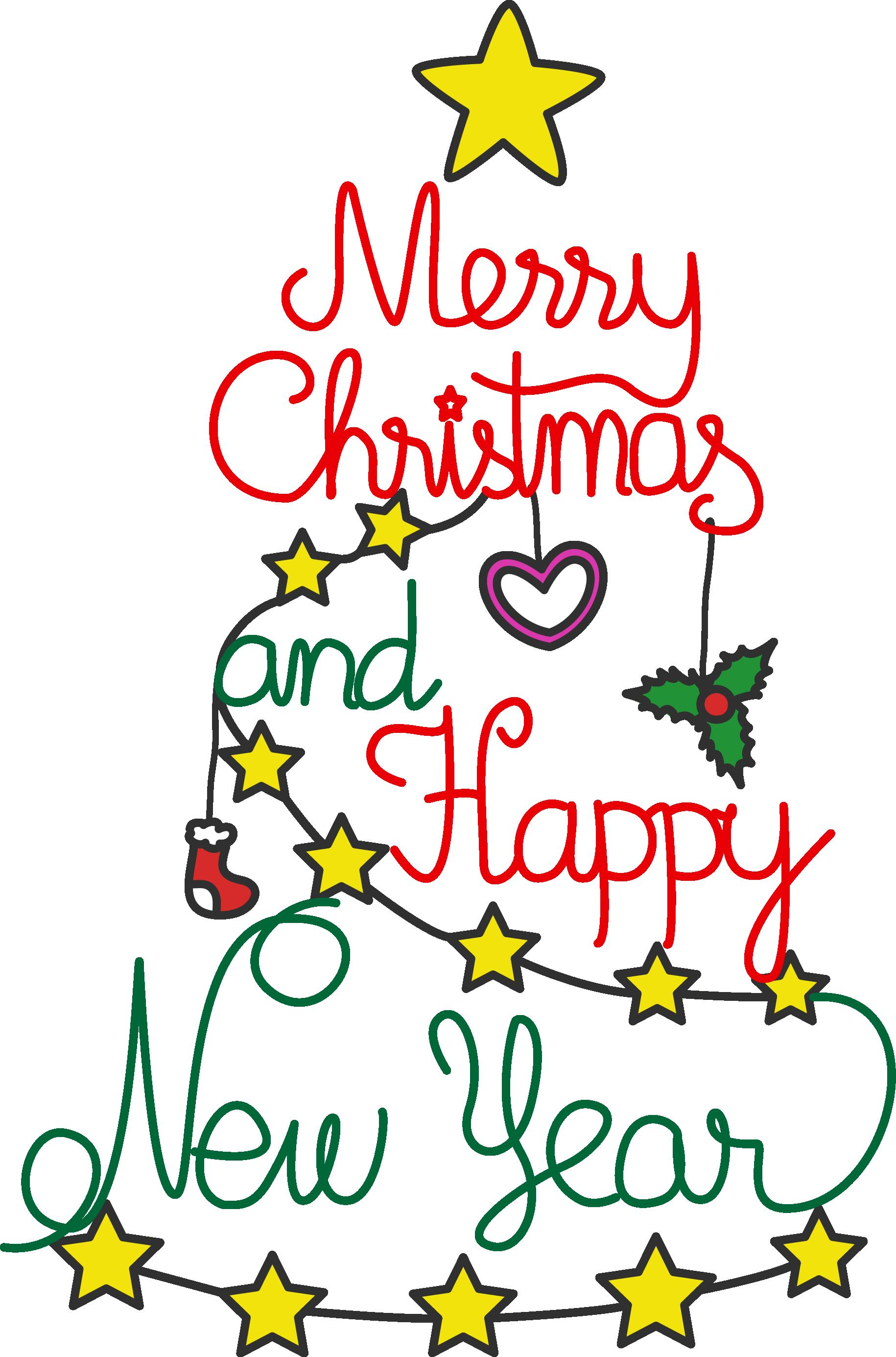 1830x2770 Merry Christmas And Happy New Year Clip Art Merry Christmas