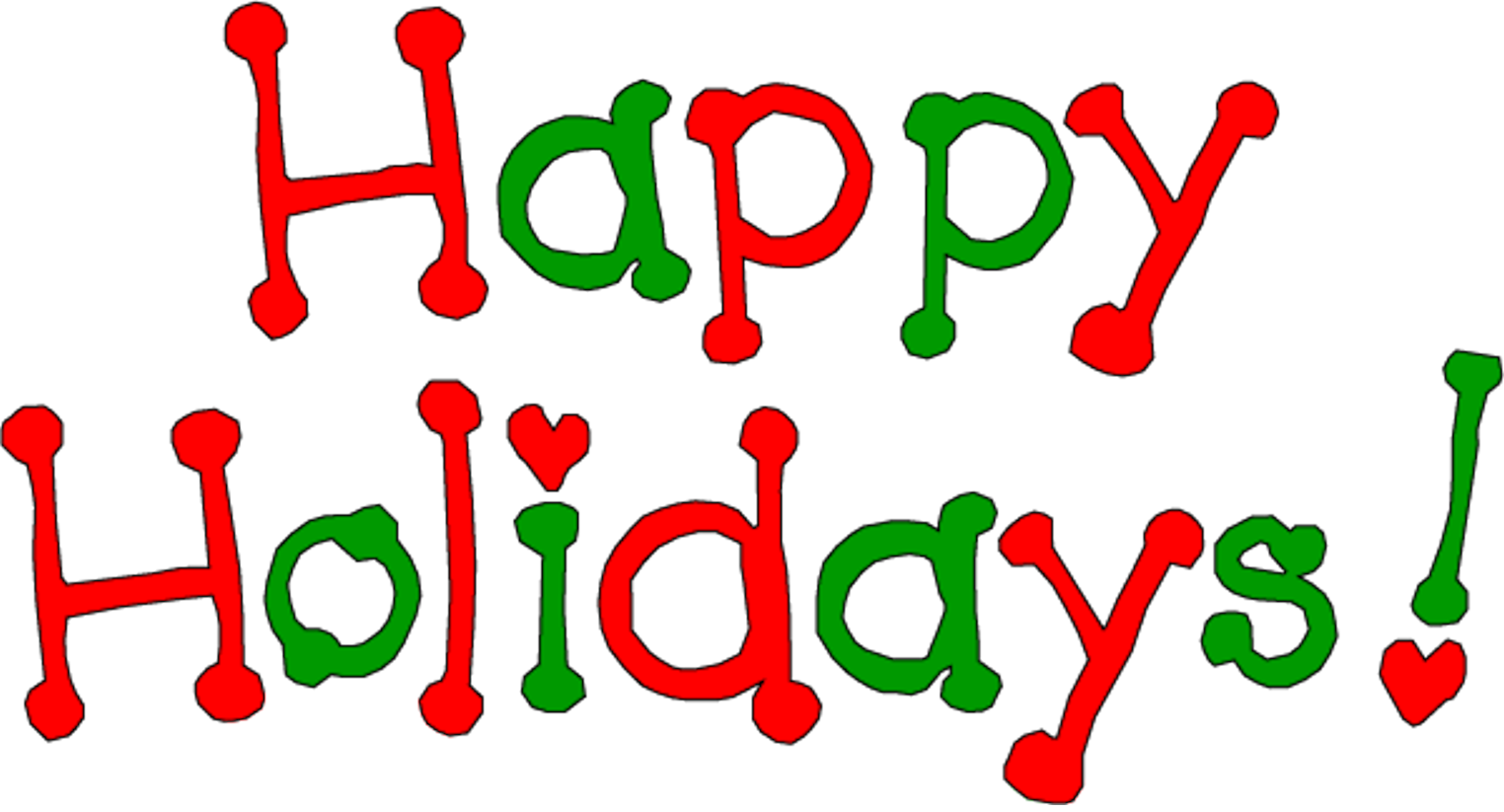 1524x823 Word Clipart Happy Holiday