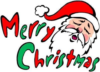 400x289 Merry Christmas Art Clip