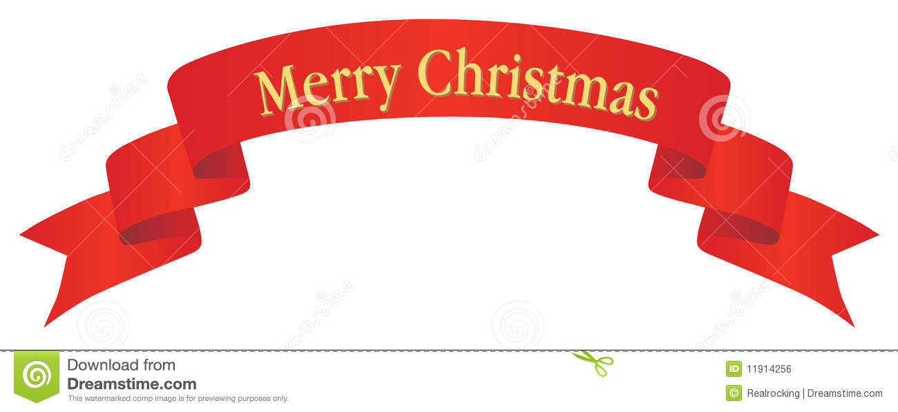 1300x596 Merry Christmas Banner Clipart