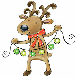 265x270 Merry Christmas Funny Clipart