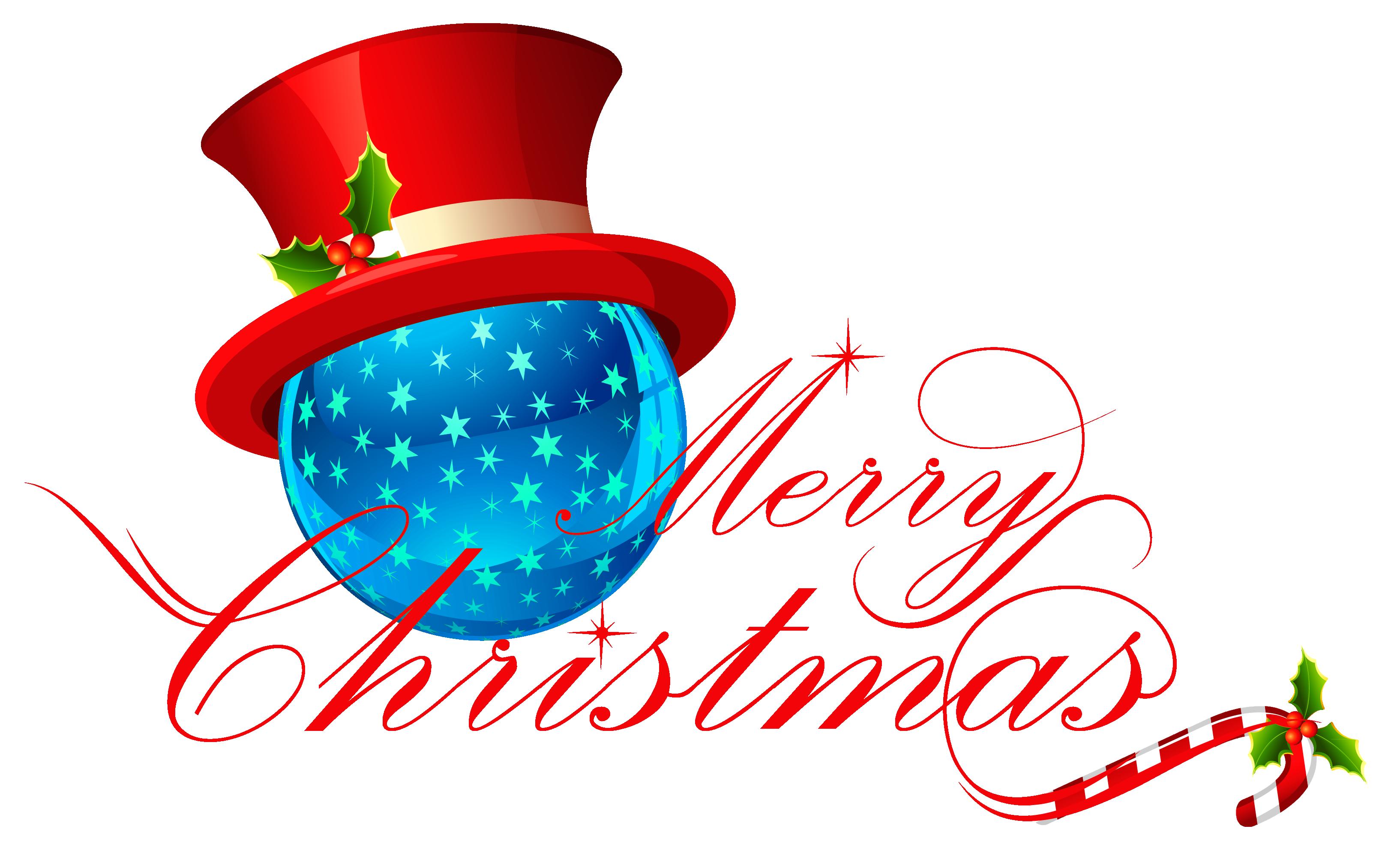 3239x2026 Merry Christmas Clipart Ornament