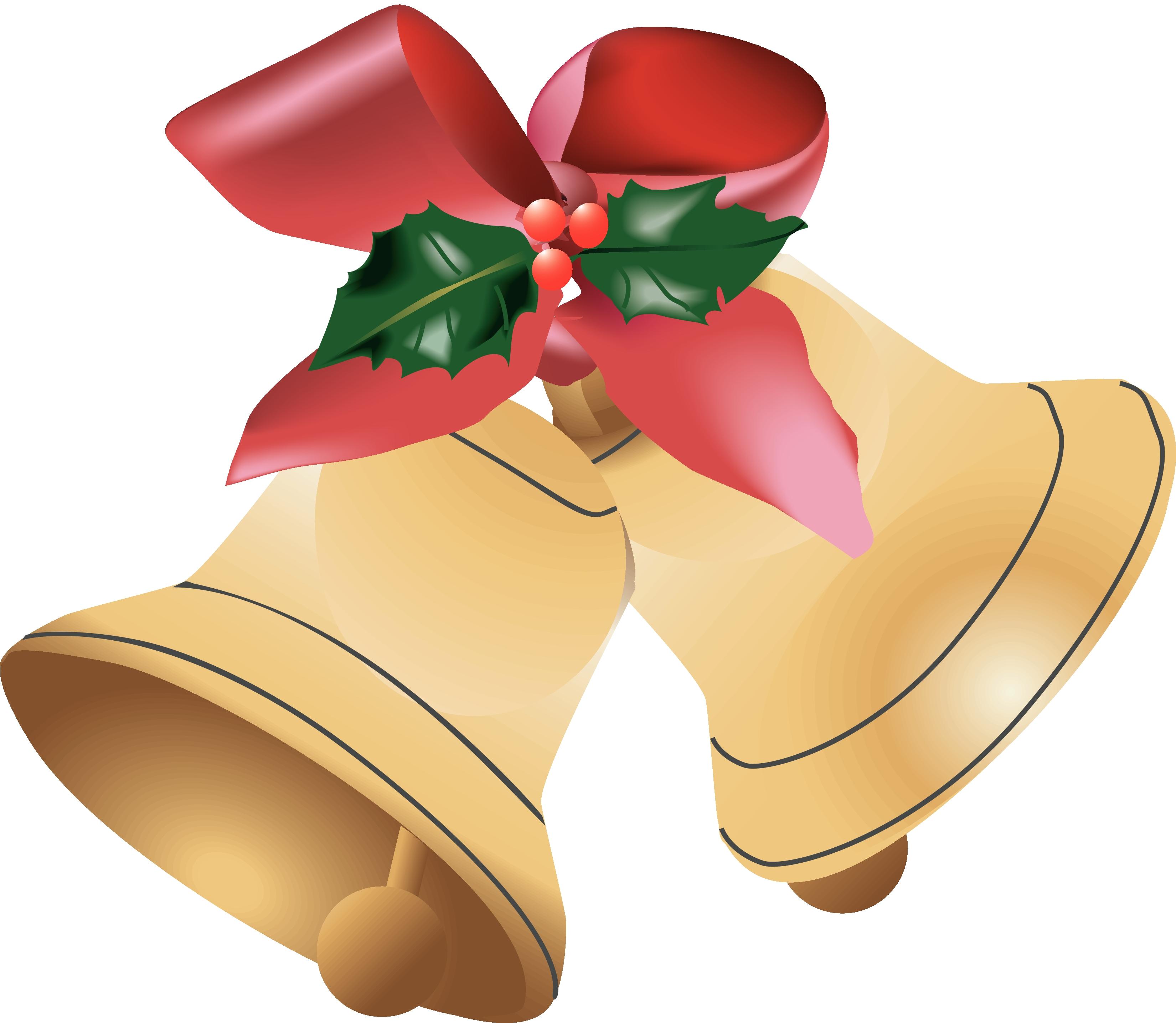 3300x2871 Bell Clipart Merry Christmas
