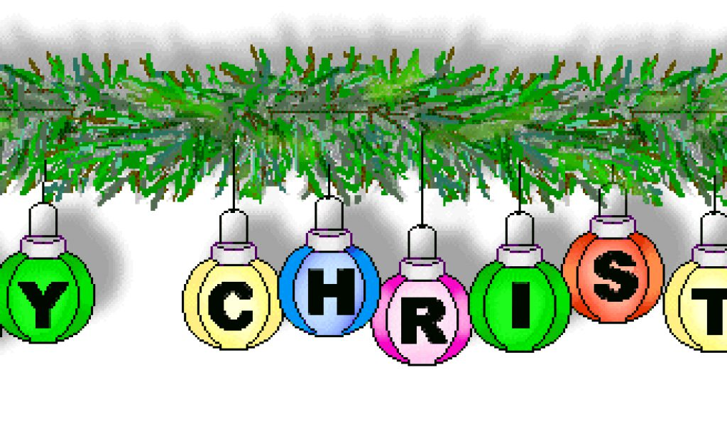1024x600 Merry Christmas Clipart Free
