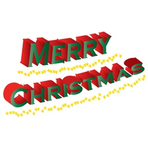 300x300 Merry Christmas Banner Clipart