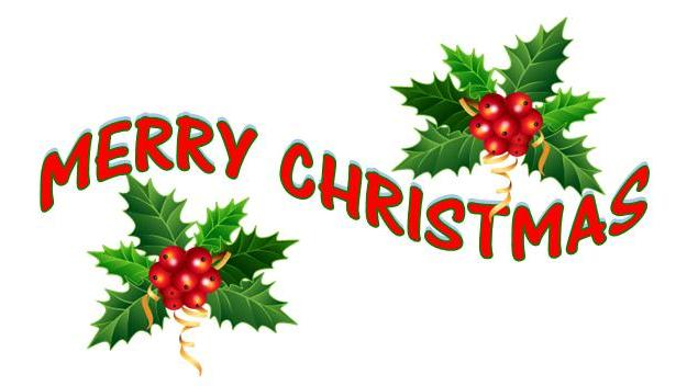 625x352 Merry Christmas Words Clip Art Images Wallpapers Free