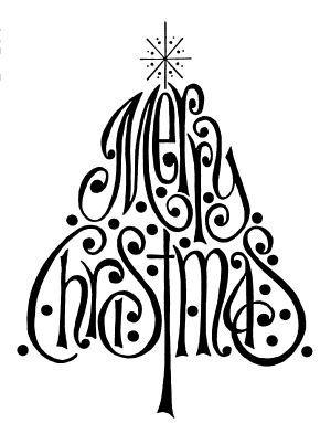 300x383 Best Merry Christmas Calligraphy Ideas Merry