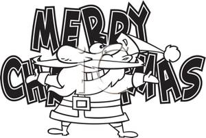 300x202 Merry Christmas Clipart Black And White Clipart Panda