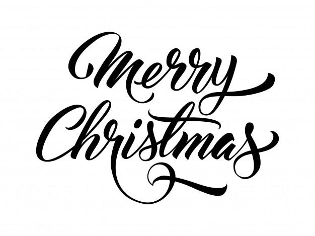 626x469 Merry Christmas Handwritten Text Vector Free Download