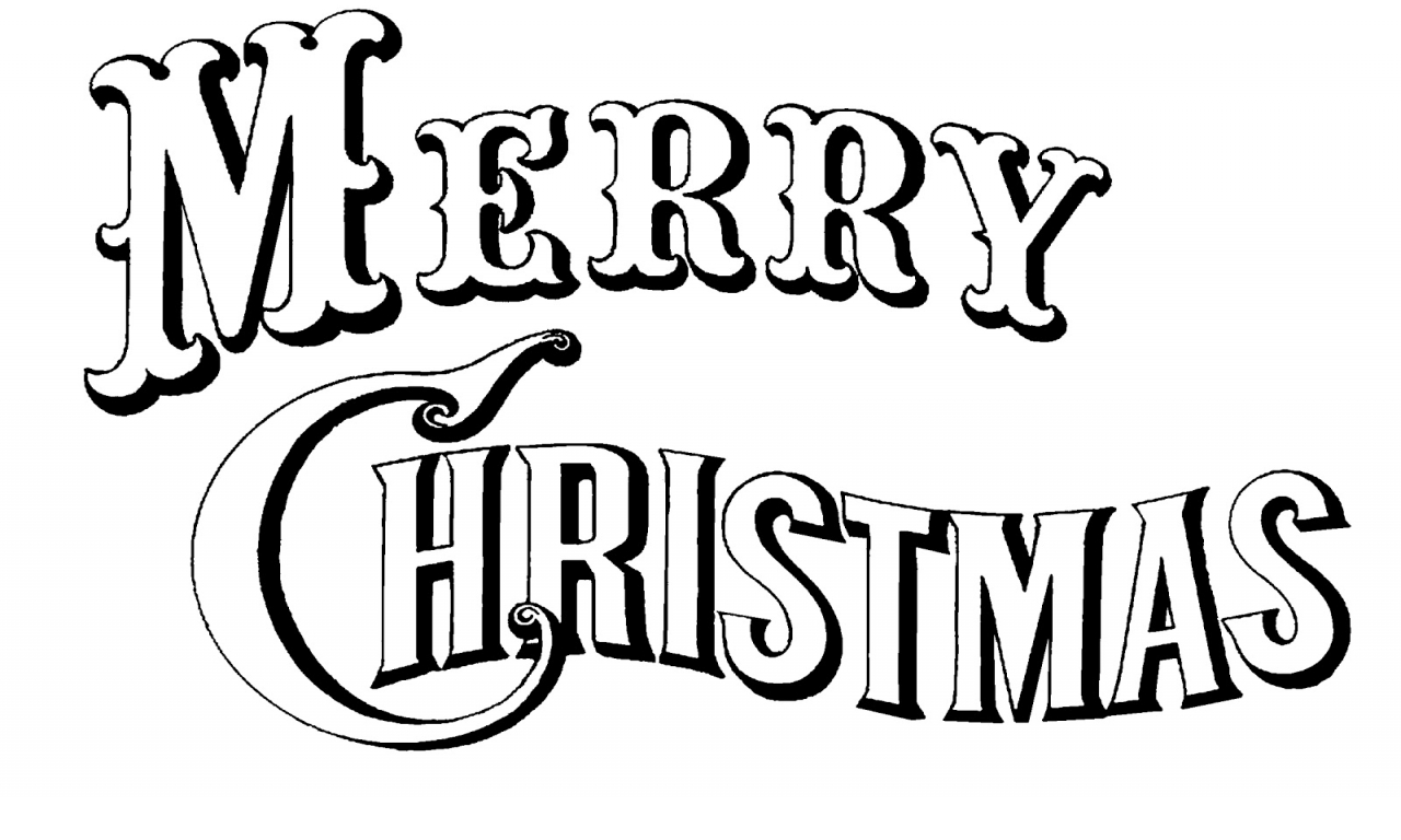 1280x768 Merry Christmas Clipart Black And White Happy Holidays!