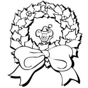 300x300 Black And White Christmas Wreath Clip Art Merry Christmas