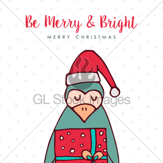 325x325 Christmas Cute Santa Helper Elf Holiday Cartoon Gl Stock Images