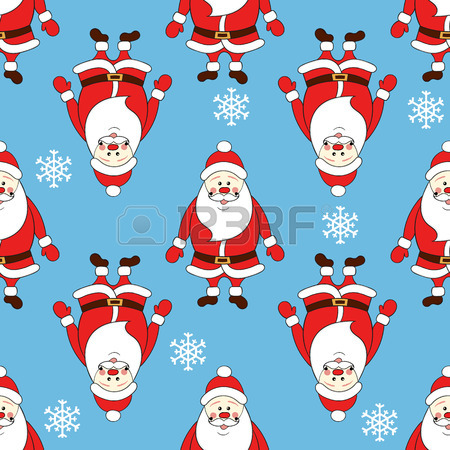 450x450 Christmas Seamless Pattern With Cartoon Santa Claus Saying Ho Ho