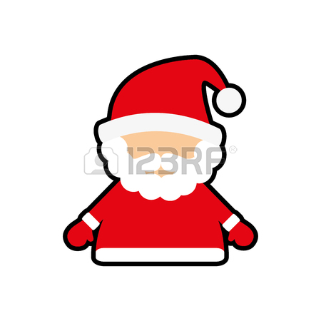 450x450 Santa Cartoon And Credit Card Icon. Merry Christmas Season