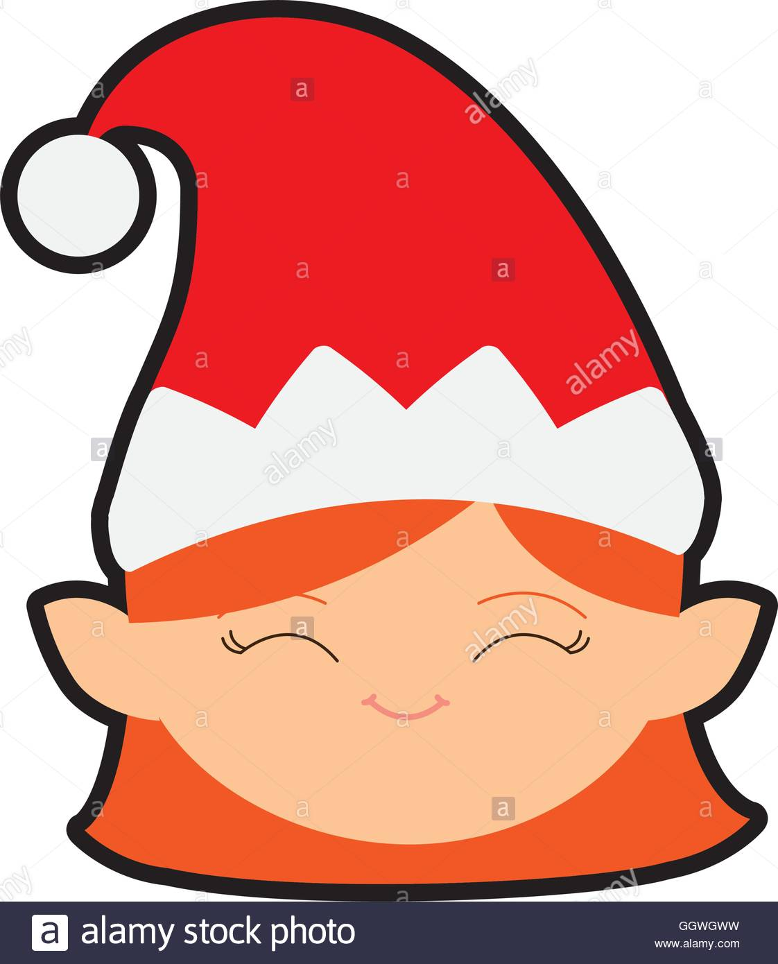 1122x1390 Elf Cartoon Merry Christmas Icon. Vector Graphic Stock Vector Art