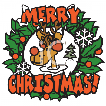 350x350 Free santa clip art image santa saying merry christmas image