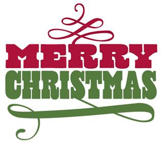 314x280 Merry Christmas Clip Art Words