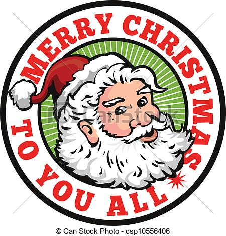 450x470 Merry Christmas Santa Clipart