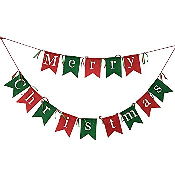 350x350 Be Merry Banner Garland