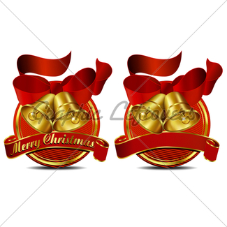 325x325 Merry Christmas Bells Gl Stock Images