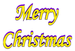 250x170 Merry Christmas Text Clipart