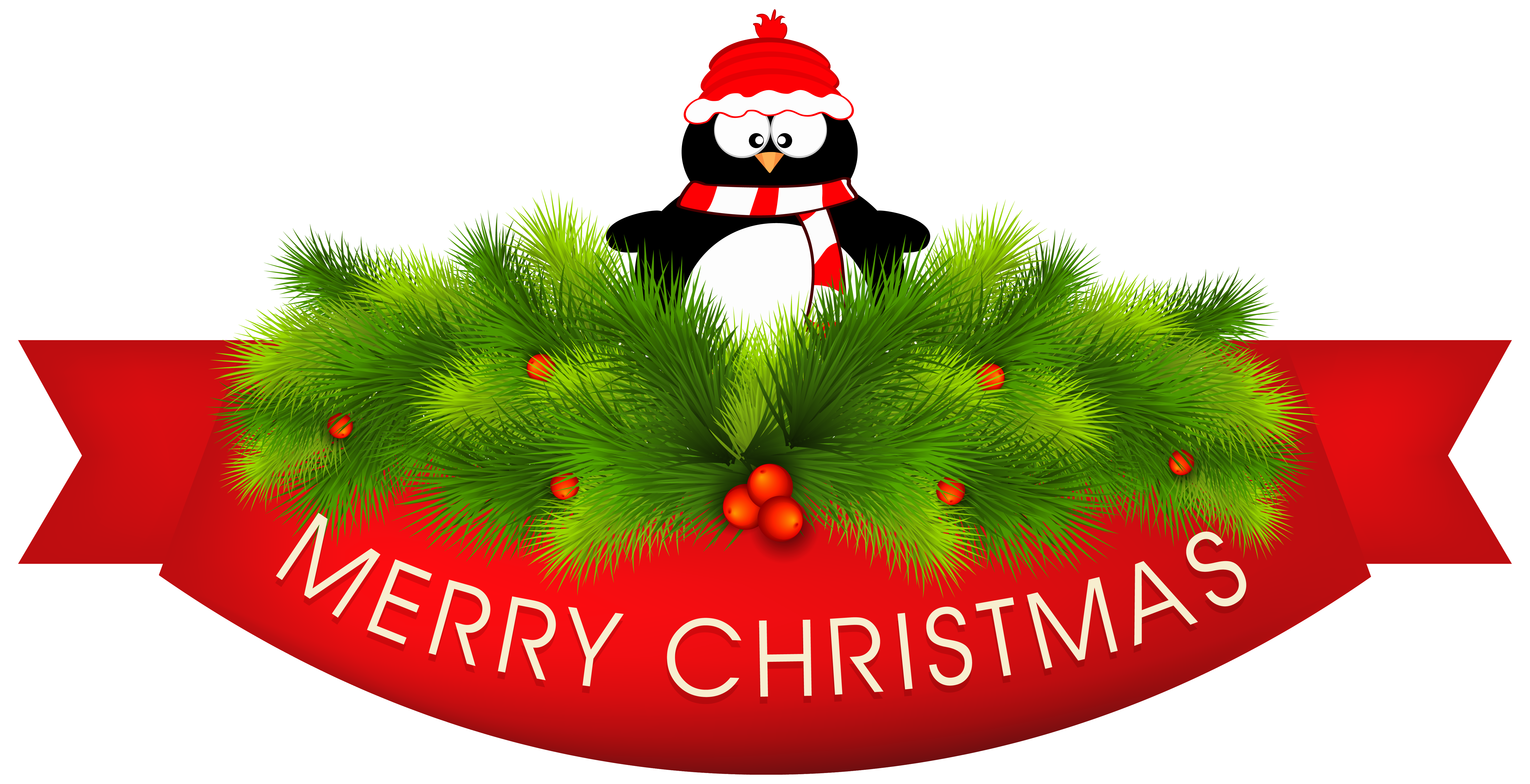 6256x3208 Merry Christmas Clipart Decoration