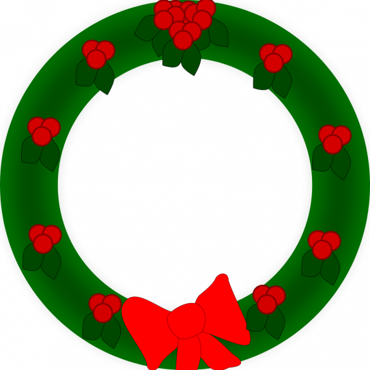 728x728 Christmas ~ Merry Christmas Clipart Wreath Pencil And In Color
