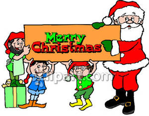 300x235 Elf Clipart Merry Christmas