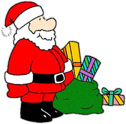 408x401 Santa Free Merry Christmas Clipart