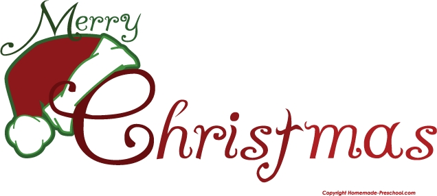 636x286 Fancy Merry Christmas Clip Art Words