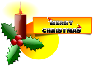 299x213 Merry Christmas Card Clip Art
