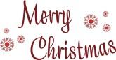 165x86 Merry Christmas Word Art, Christmas Sayings Art The Printable Holiday