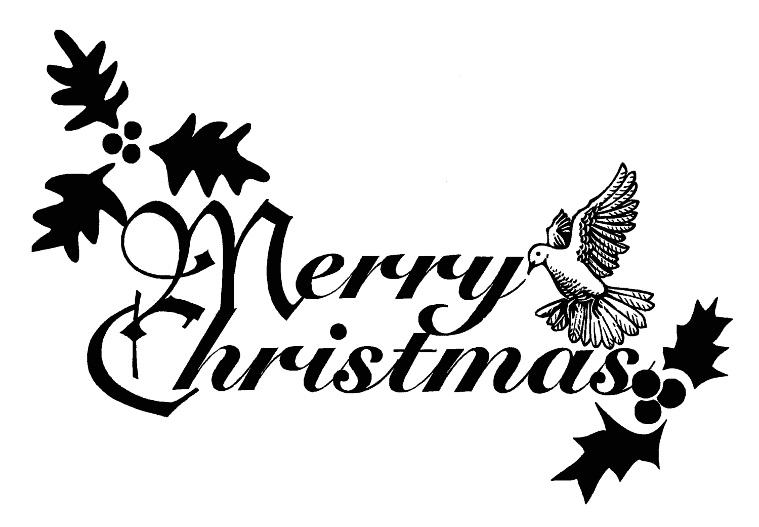 1500x1041 Merry Christmas Words Clipart Merry Christmas And Happy New Year