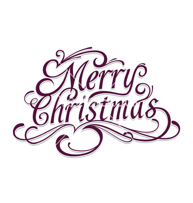 380x400 Merry Christmas Clipart Lettering