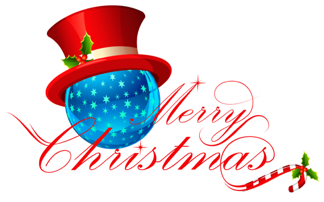 640x400 Merry Christmas Clipart Transparent