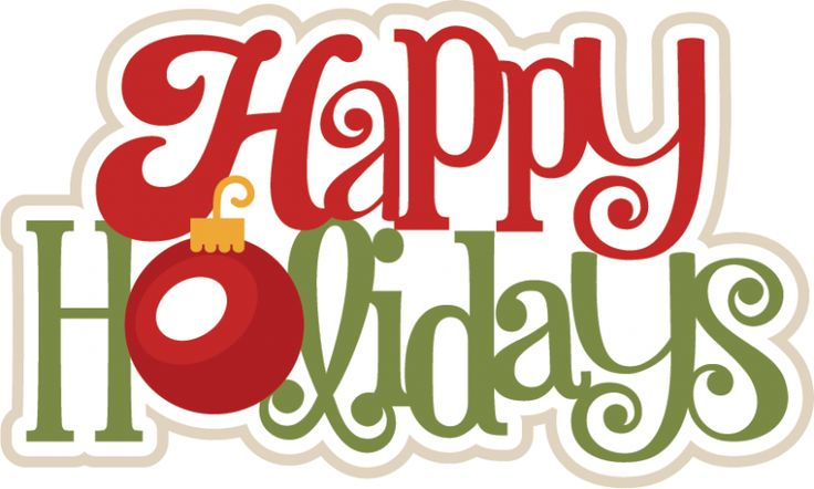 736x442 Word Clipart Happy Holiday