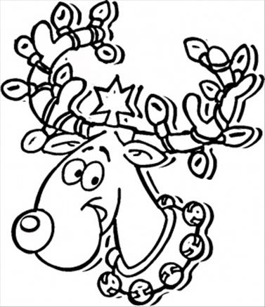 377x437 Merry Christmas Coloring Pages Printable