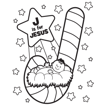 340x340 Merry Christmas Jesus Coloring Pages Happy Holidays!