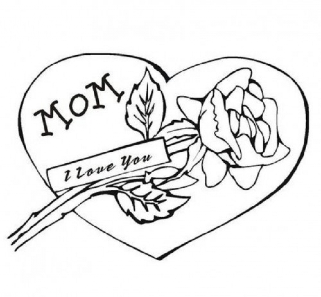 1024x946 Merry Christmas Mom Coloring Pages