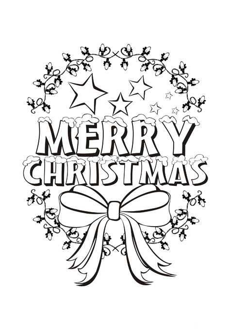 472x678 Beautiful Merry Christmas Coloring Pages For Kids