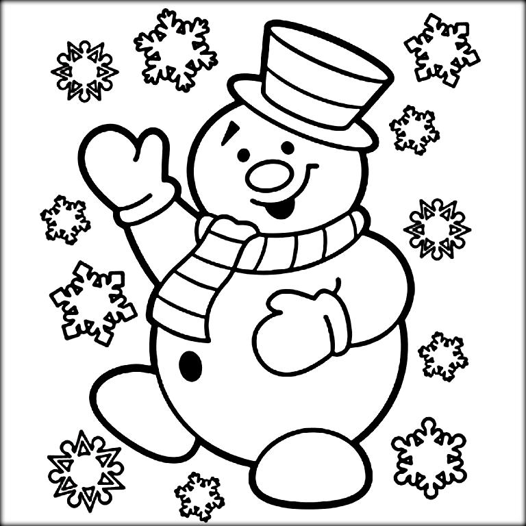 768x768 Christmas Colouring For Kids