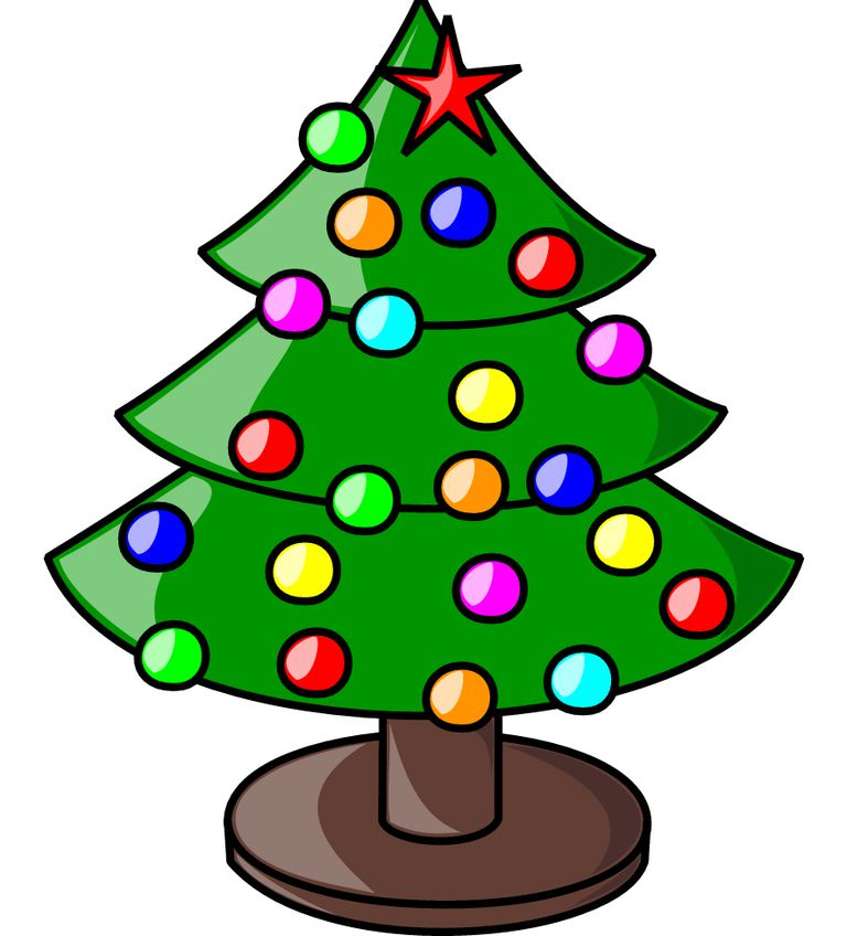 768x848 Merry Christmas Clip Art Free Tree Clipart For 6