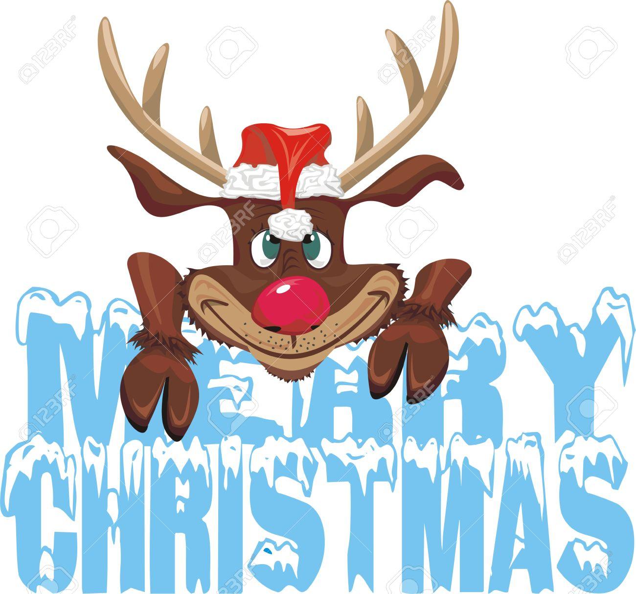 1300x1214 Reindeer Clipart Merry Christmas