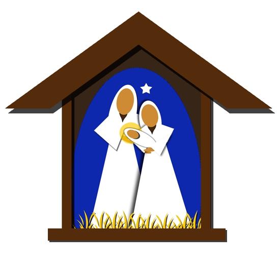 550x513 Christmas Nativity Clip Art