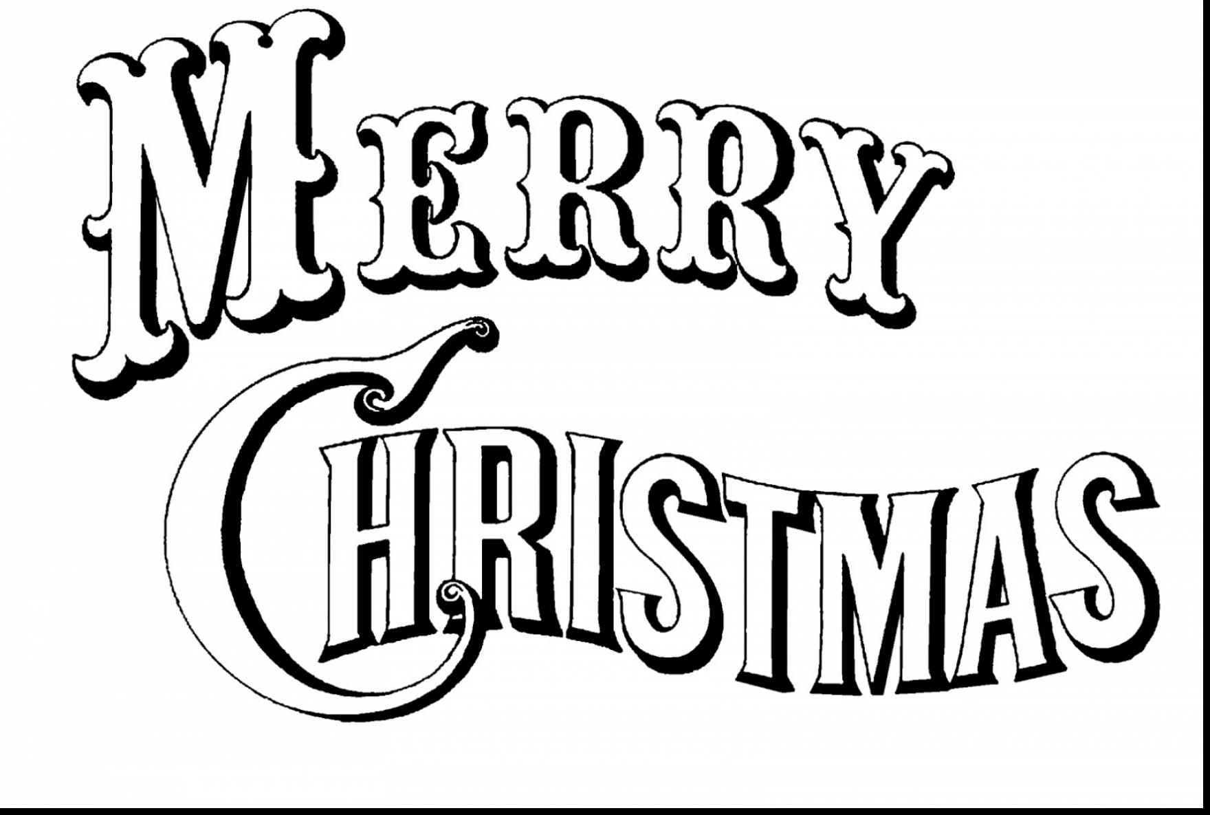 1760x1185 Brilliant Merry Christmas Coloring Pages Printable With Merry