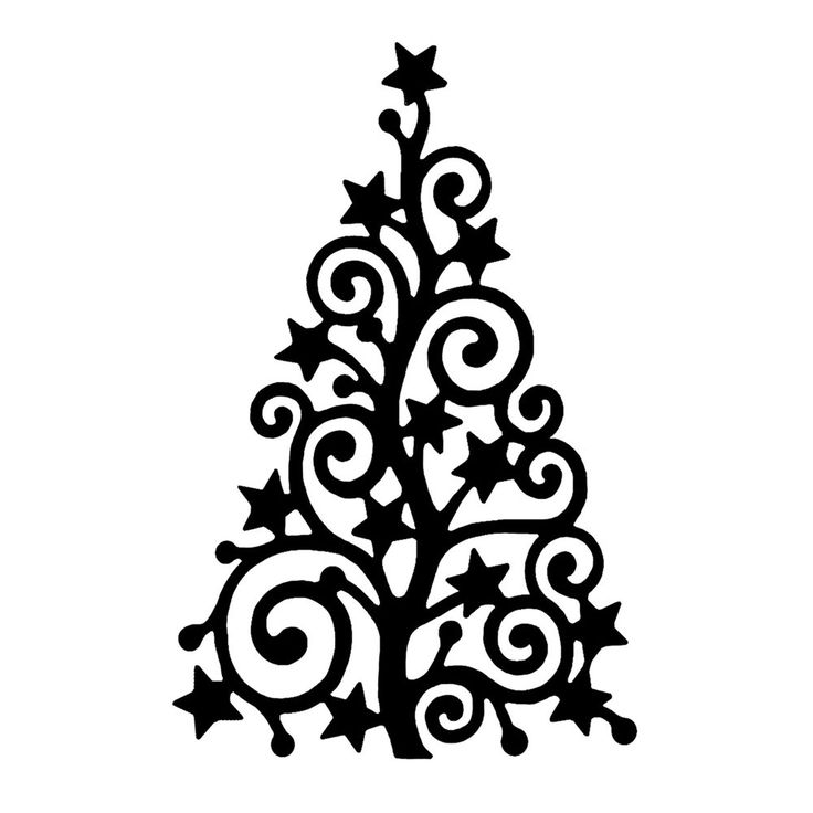 736x736 Black And White Christmas Tree Drawing Merry Christmas Amp Happy