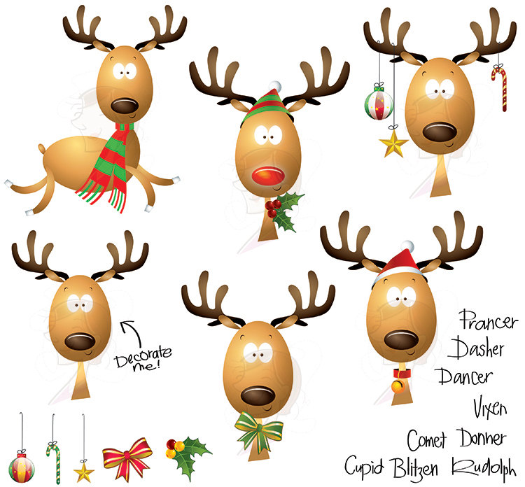 750x696 funny rudolph clip art merry christmas amp happy new year arts