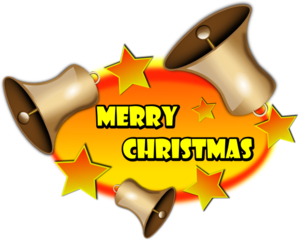 299x240 Merry Christmas Bell Banner Clip Art