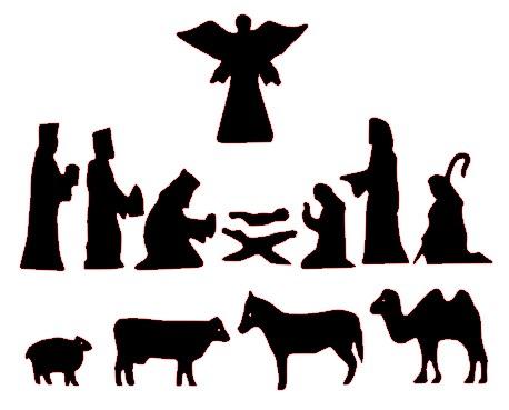 458x369 Free Nativity Scene Clipart