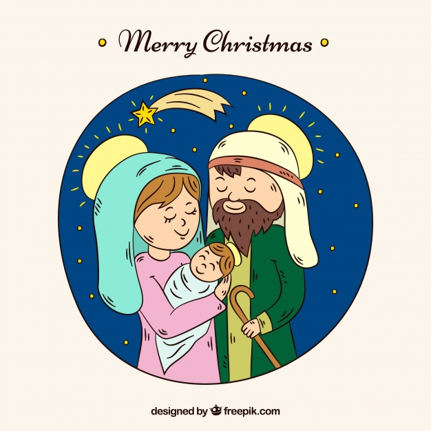 626x626 Hand Drawn Cute Nativity Scene Vector Free Download